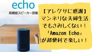 【アレクサに感謝】マンネリな夫婦生活でもさみしくない!「Amazon Echo」が超便利で楽しい!